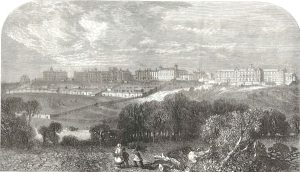 The extent of Broadmoor as seen from the south, 1867 (courtesy of Reading Libraries)