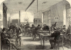 Men's dayroom at Broadmoor, 1867 (courtesy of Reading Libraries)