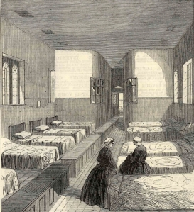 One of the women's dormitories in Broadmoor, 1867 (courtesy of Reading Libraries)